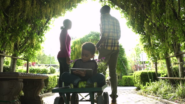 family standing and sitting in a garden - whidbey island shop stock videos and b-roll footage