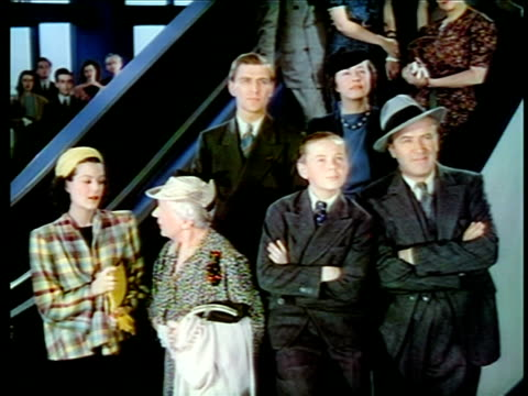 1940 family standing looking up watching something / new york world's fair / industrial - new york world's fair stock videos & royalty-free footage