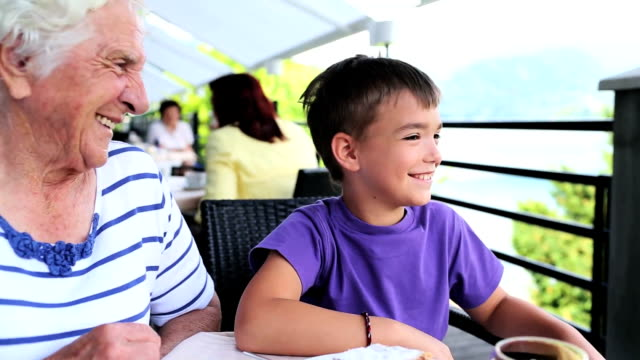 family time grandmother & grandson - multi generation family stock videos & royalty-free footage