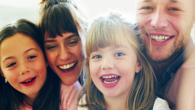 family time isn't complete without a selfie - making a face stock videos & royalty-free footage