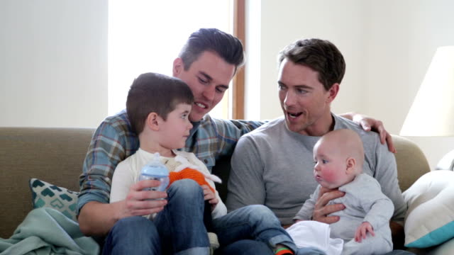 family time - gay stock videos and b-roll footage