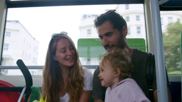 family travelling by train - 12 17 months stock videos & royalty-free footage