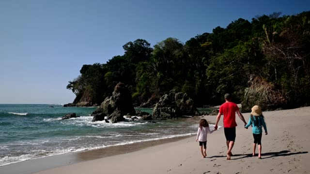 family vacations at the beach - costa rica stock videos & royalty-free footage
