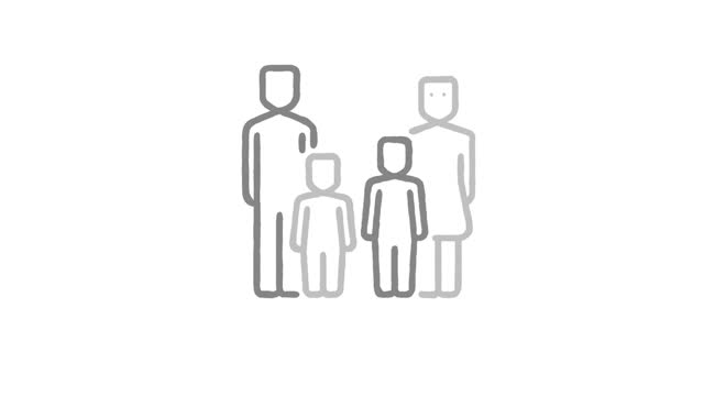 family - pencil icon stock videos & royalty-free footage
