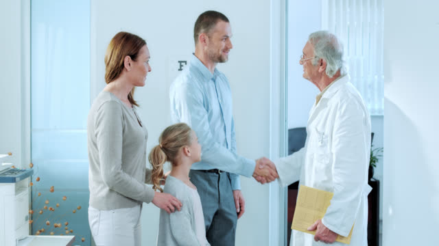 Family visiting their physician