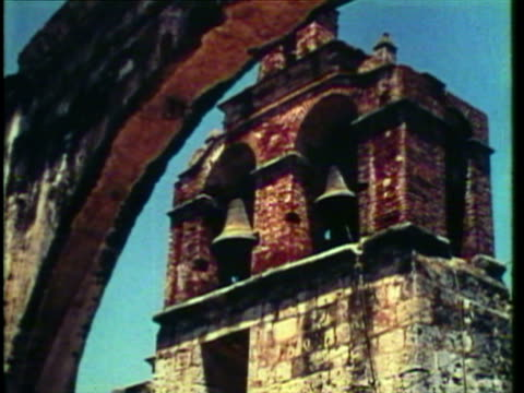 1953 ws family visits old mission ruins, schools and building / santo domingo, dominican republic / audio - hispaniola stock videos & royalty-free footage