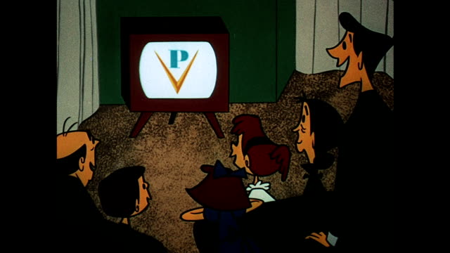 family watching television - 1954 stock videos & royalty-free footage