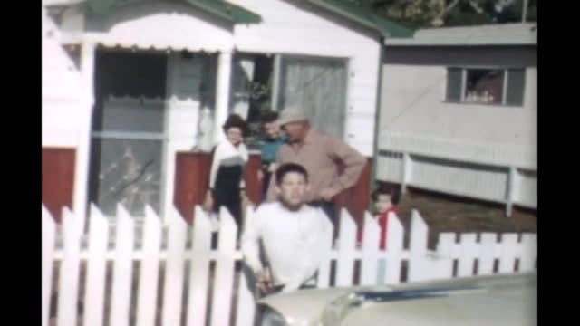 1965 family with dog - picket fence stock videos and b-roll footage
