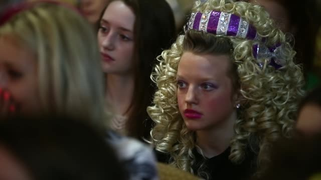 Family's friend's and performers watch the performances at the World Irish Dance Championship on April 13 2014 in London England The 44th World Irish...