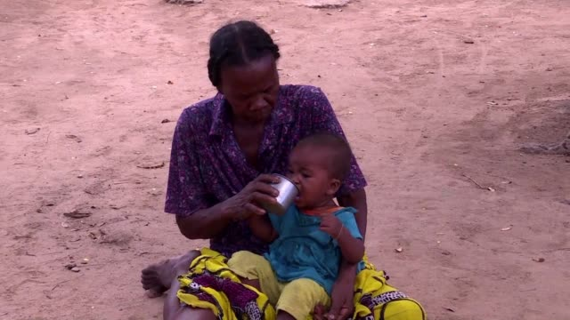 famine is ravaging parts of southern madagascar leaving more than one million people malnourished and vulnerable to disease - fame video stock e b–roll