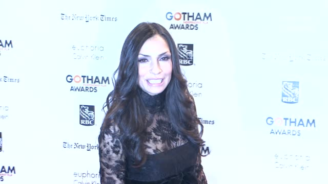 famke janssen at the 22nd annual gotham independent film awards at cipriani wall street on november 26, 2012 in new york, new york - independent feature project stock videos & royalty-free footage