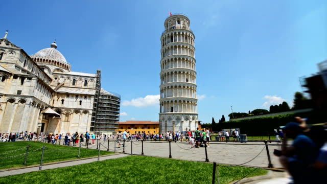 Famous architectural attraction Pisa in Italy
