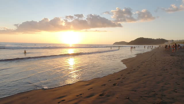 famous beach in costa rica - caribbean sea stock videos & royalty-free footage