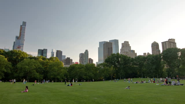 Famous central park in New York, USA