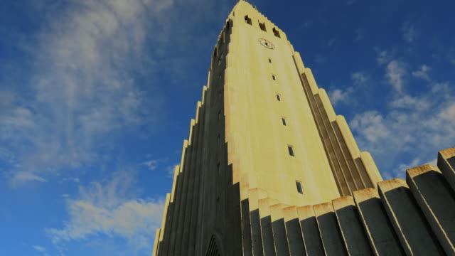 Famous church Hallgrimskirkja in Reykjavik