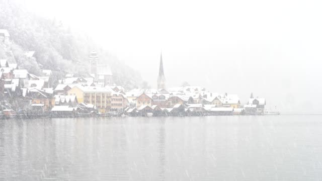 famous hallstatt, austria, in winter - austrian culture stock videos & royalty-free footage