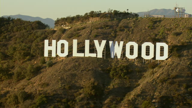 famous hollywood sign in los angeles - hollywood sign stock videos & royalty-free footage