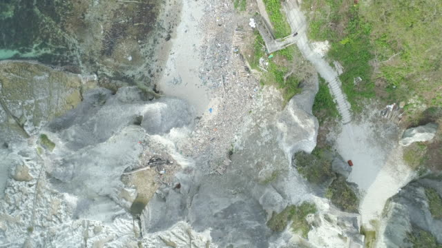 famous hotokegaura rocks in japan, overhead aerial - aomori prefecture stock videos & royalty-free footage