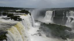 Famous Iguazu Falls in Brazil and Argentina, A New Wonder of Nature