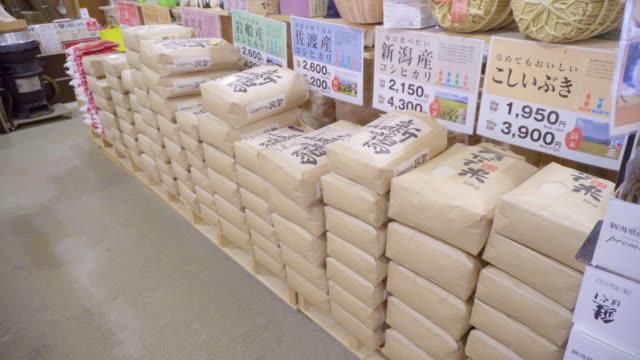 vidéos et rushes de famous japanese rice, niigata, japan - riz céréale