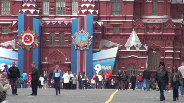 famous landmark of red square in moscow russia - moscow russia stock videos & royalty-free footage
