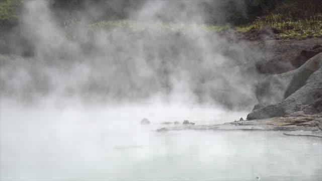 famous noboribetsu hot springs, hokkaido, japan - hot spring stock videos & royalty-free footage