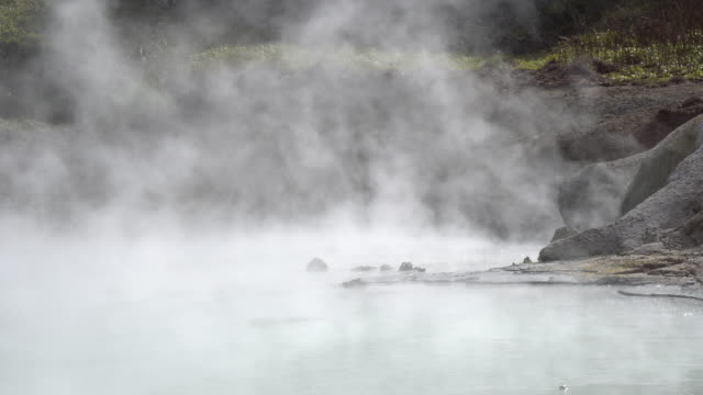 famous noboribetsu hot springs, hokkaido, japan - valley stock videos & royalty-free footage