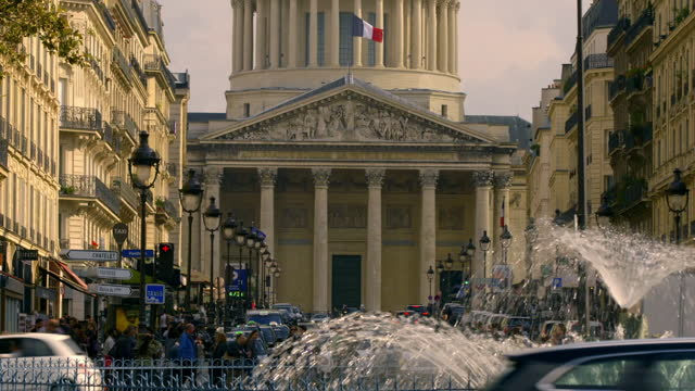 famous parisian buildings including panthéon, france - french culture stock videos & royalty-free footage