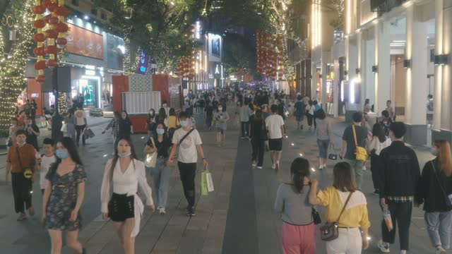 famous pedestrian street of beijing road,guangzhou,china. - walkable city stock videos & royalty-free footage