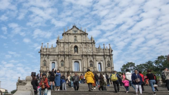 famous place in macao - macao flag stock videos and b-roll footage