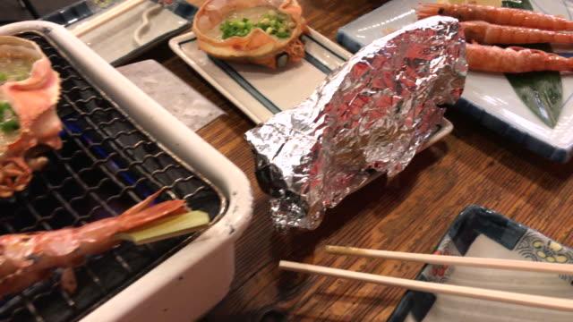 Famous seafood grilled restaurant , Tokyo , Japan