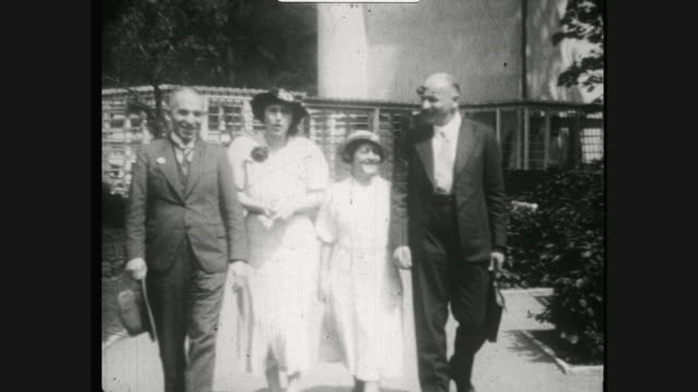 famous spa town and health resort bad elster in the 1920s woman wearing her best dress sitting in a café two couples walking along to the camera at... - 1920 stock videos & royalty-free footage