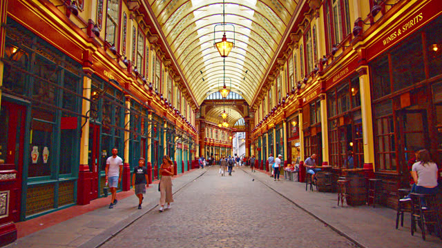famous store in london. leadenhall market - ornate stock videos & royalty-free footage