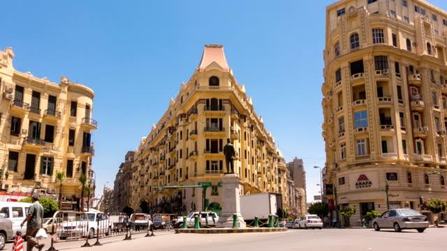 Famous Talaat Harb Square in der Innenstadt von Kairo, Ägypten