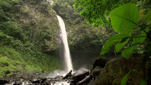 ds famous waterfall la fortuna in costa rica - costa rica video stock e b–roll