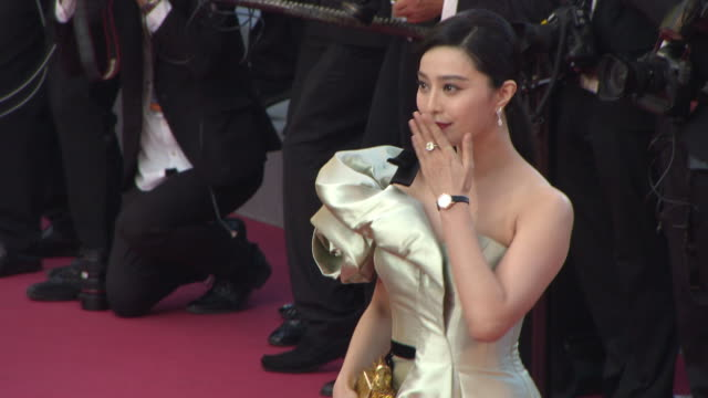 fan bingbing at les eternelles' red carpet arrivals the 71st annual cannes film festival on may 11 2018 in cannes france - 71st international cannes film festival stock videos & royalty-free footage
