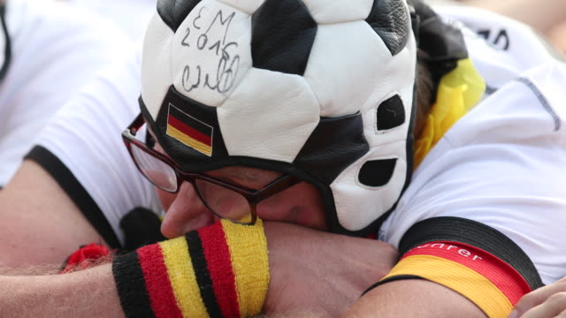 a fan gets upset after germany lost the 2018 fifa world cup russia group f match against korea republic at the kazan arena in kazan russia on june 27... - fifa stock videos & royalty-free footage
