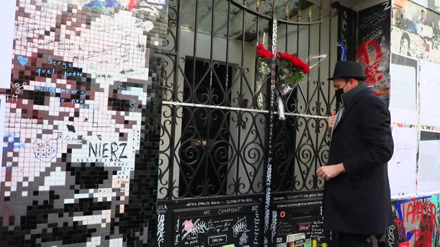 FRA: Tributes To The 30th Anniversary Of Serge Gainsbourg's Death In Paris