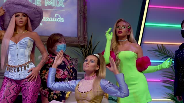 GBR: Madame Tussauds In London Reveals Figures of Little Mix.