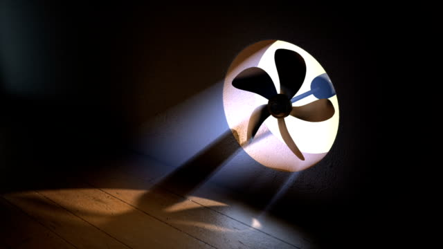 Fan With Volumetric Light