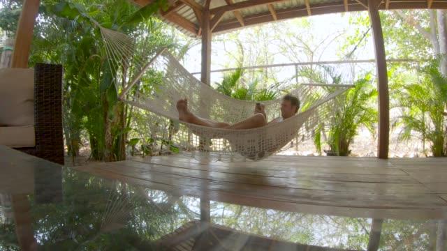 fancy hammock - gazebo stock videos & royalty-free footage