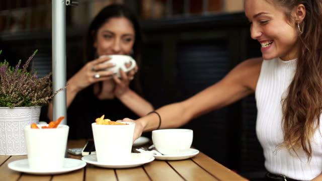 fancy women having brunch in london - brunch stock videos and b-roll footage