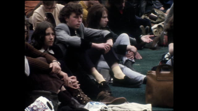 fans arrive and wait for rock concert at wembley stadium; 1972 - wembley stock videos & royalty-free footage