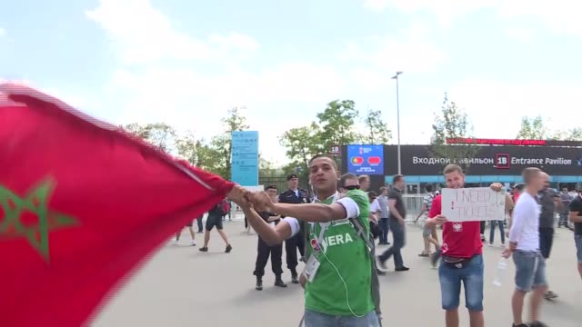 fans arrive at luzhniki stadium prior to the 2018 fifa world cup russia group b match between portugal and morocco on june 20 2018 in moscow russia - luzhniki stadium stock videos & royalty-free footage
