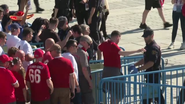 Fans arrive at Madrid's Wanda Metropolitano Stadium for the Champions League final between Tottenham and Liverpool the biggest club game of the year
