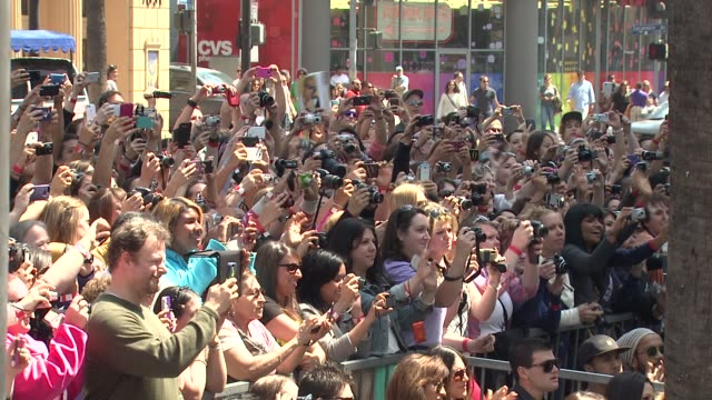 fans at backstreet boys celebrate 20 year career with star on the hollywood walk of fame. at backstreet boys celebrate 20 year career with star on... - backstreet boys stock videos & royalty-free footage