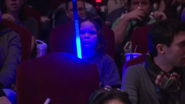 ktla fans at hollywood's chinese theater ahead of 'star wars' premiere - star wars stock videos & royalty-free footage