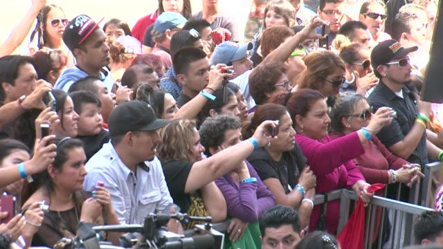 atmosphere fans at los tigres del norte honored with star on the hollywood walk of fame hollywood ca 08/21/14 - california del norte stock videos & royalty-free footage