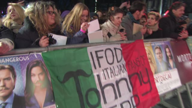 ATMOSPHERE Fans at 'Mortdecai' UK Premiere on January 19 2015 in London England
