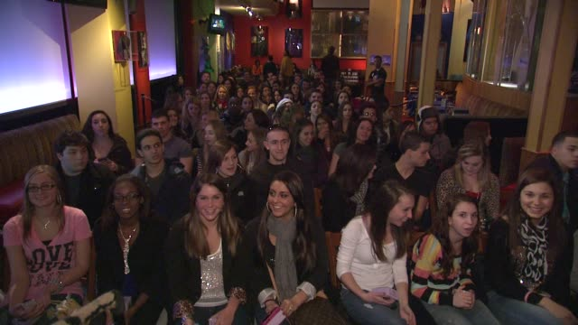 fans at Samantha 'Sammi Sweetheart' Giancola Visits Planet Hollywood Promoting Her DANGEROUS Fragrance New York NY United States